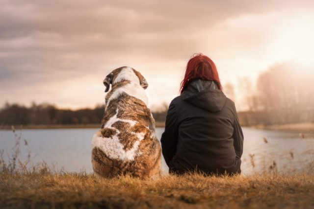 dog & woman